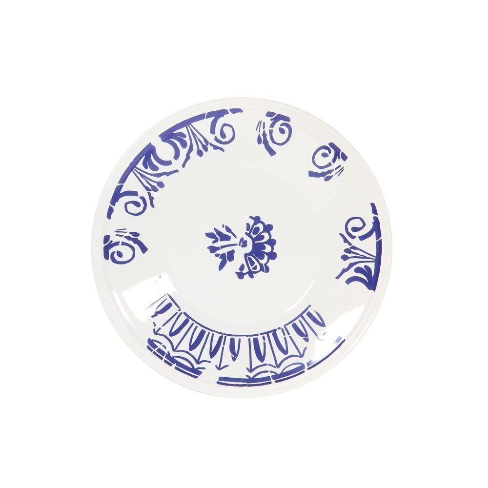 Evora  - Assiette  plate bleu grec en faience (par6)