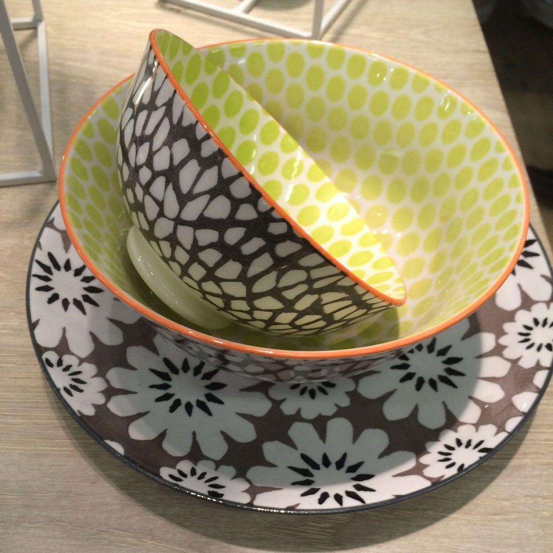 Pistil -  Assiette à dessert Pistil  en porcelaine 21,5cm( par 2)