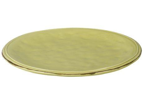Cotta -Assiette plate vert anis en faience 25,2cm (par2)