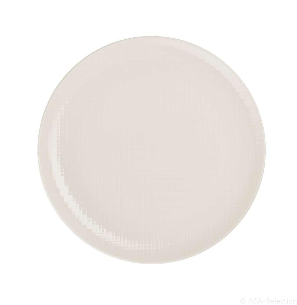 Voyage - Assiette plate vanille porcelaine (par2)