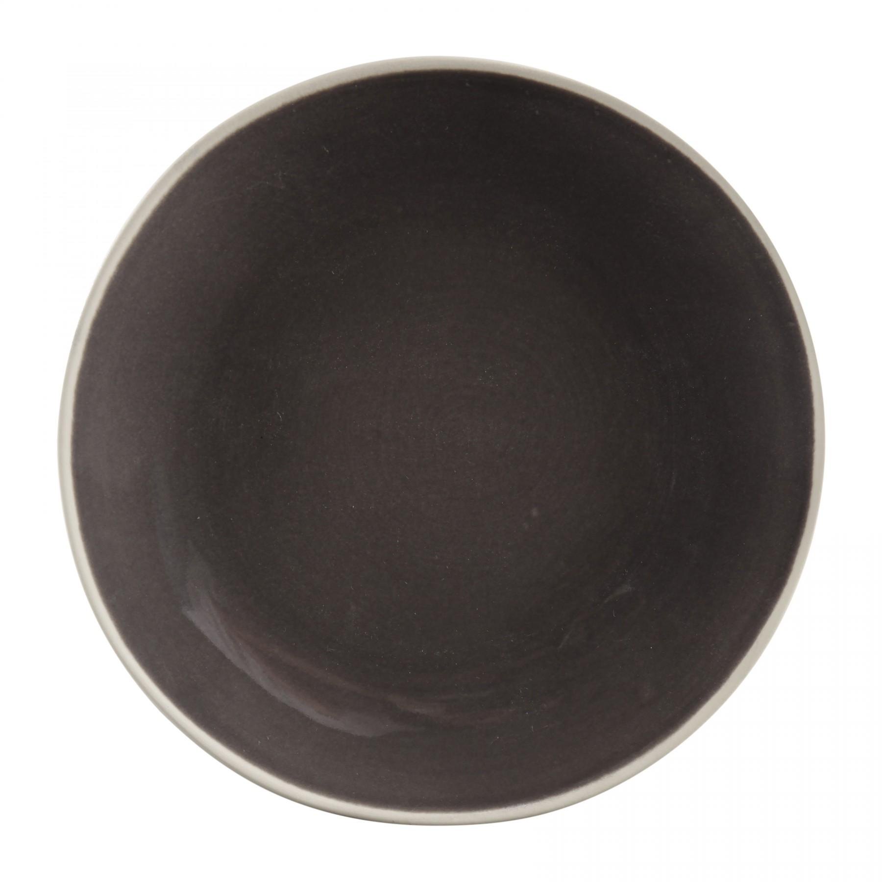 Zoe - Assiette plate couleur charbon (par2)