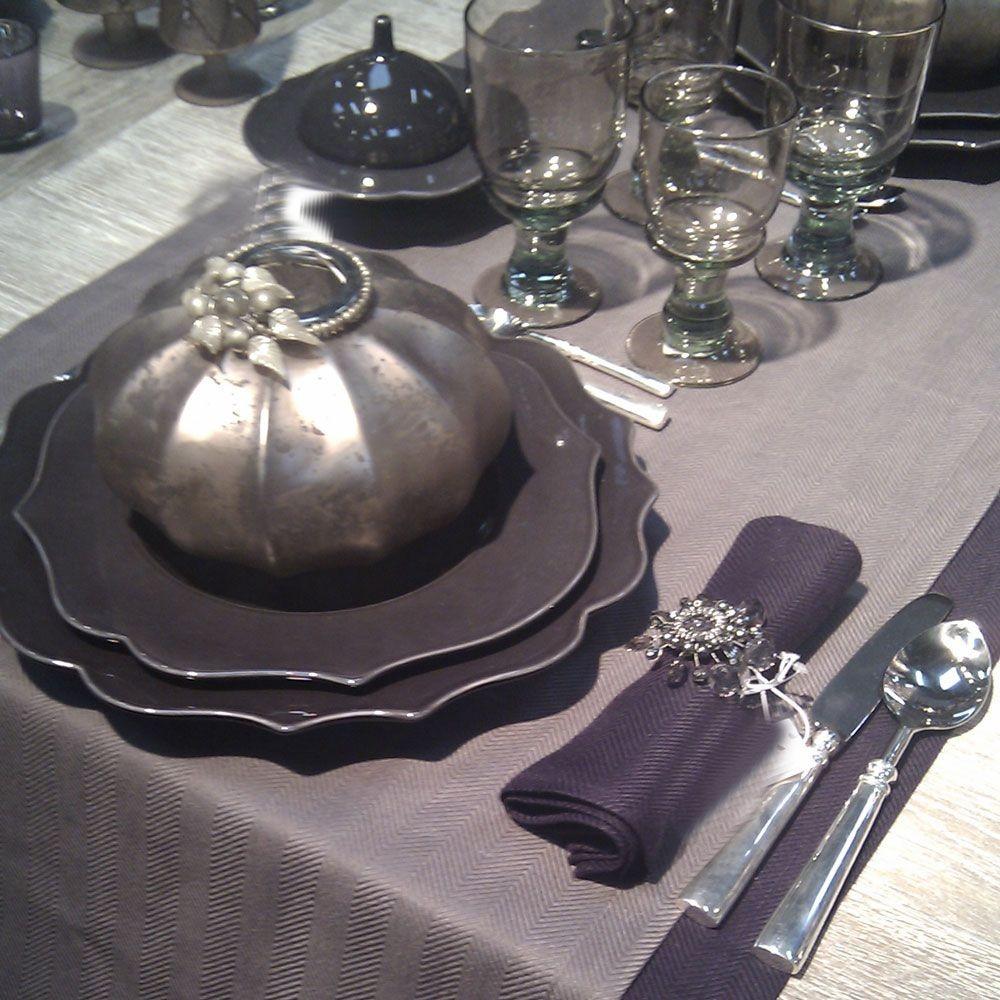 baroque assiette plate en faience encre par 6. Black Bedroom Furniture Sets. Home Design Ideas
