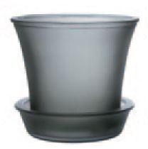 Couleurs - cache pot photophore en verre opaque