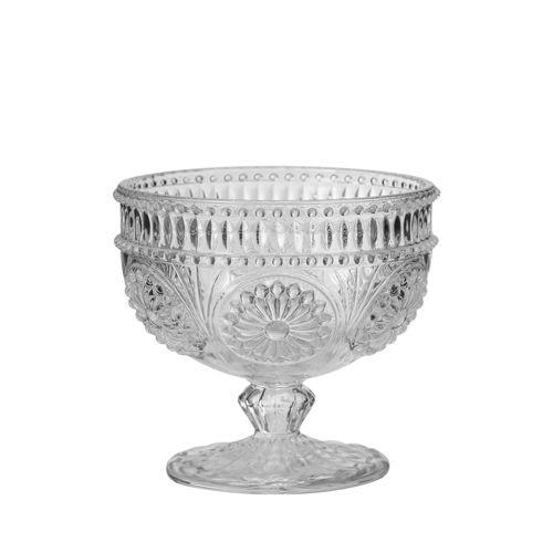 Chambord  -Coupelle sur pied baroque transparent (par6)