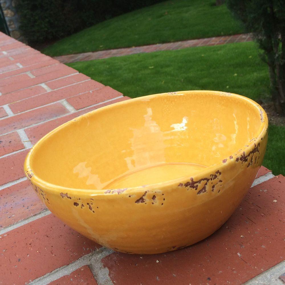 Coletta - Saladier 25 cm grès jaune