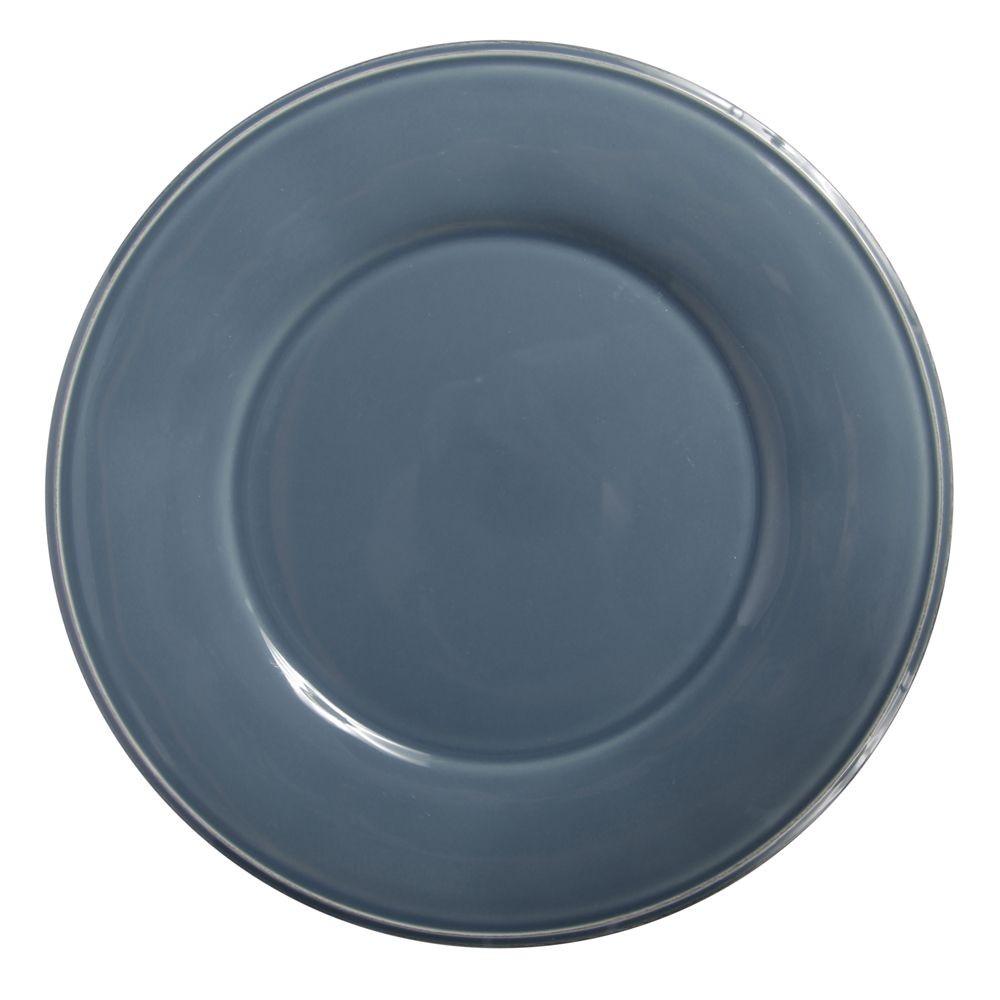 Constance - Assiette à dessert en faience bleu horizon (par6)