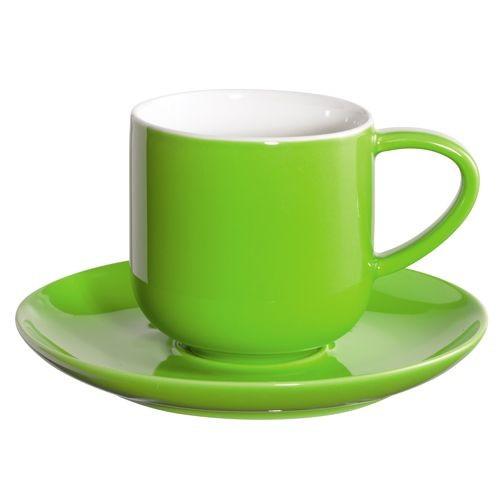 Coppa  - Tasse à  expresso  kiwi   en  porcelaine  (par2)