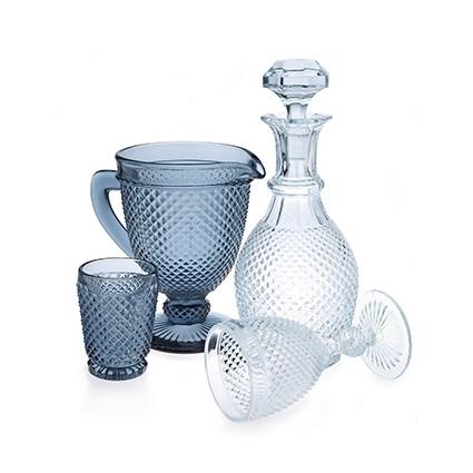 Diamond - Pichet en verre gris