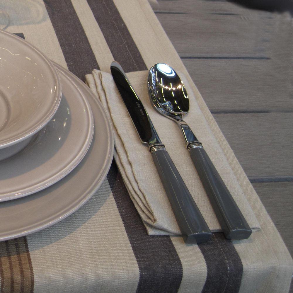 Manhattan- Ménagère de table inox et manche ciment
