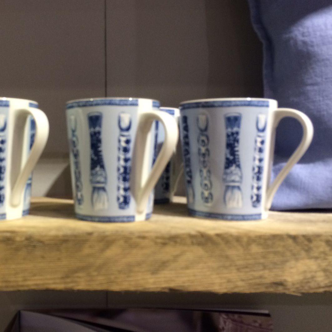 Calli - Mug  bleu et blanc pinceaux (par2)