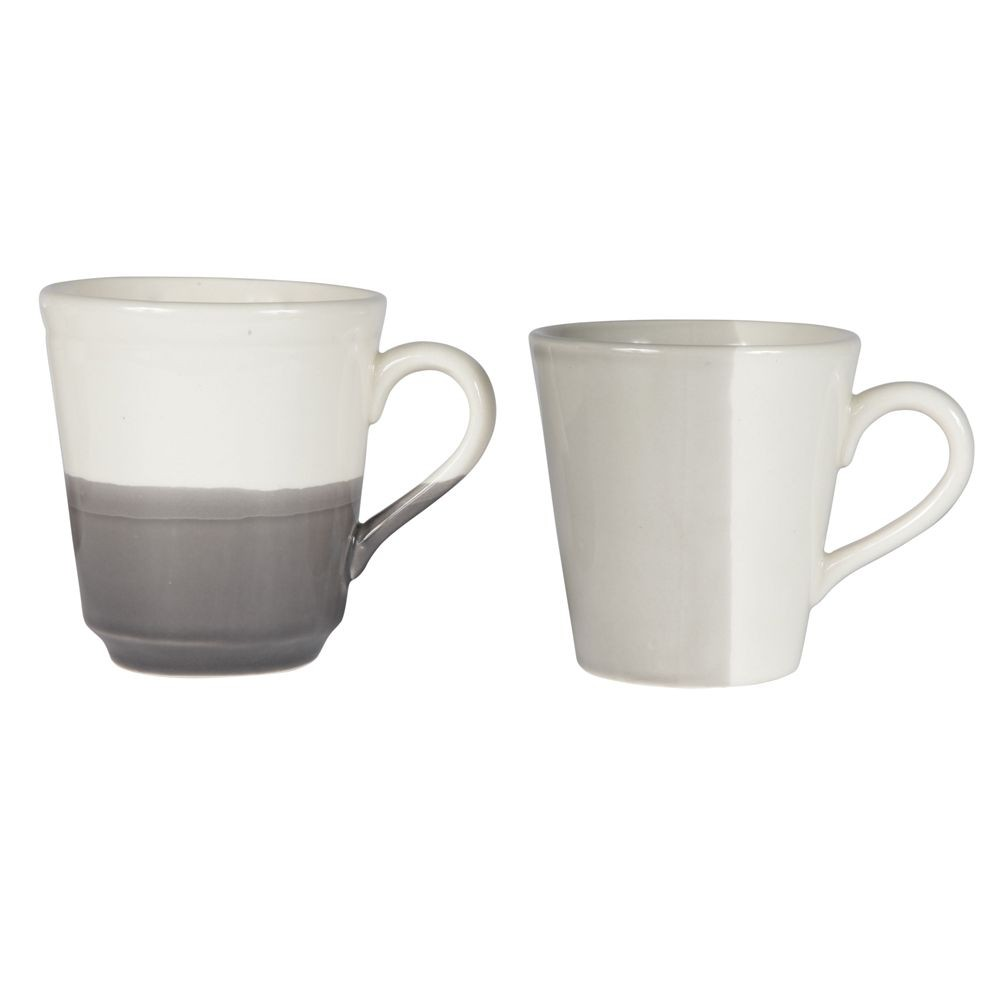 Duplicité - Tasse bi-colors gris et creme 20cl (par2)