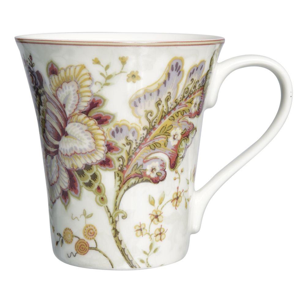 Elisabeth - Mug en porcelaine decor fleur ancienne ( par 2)