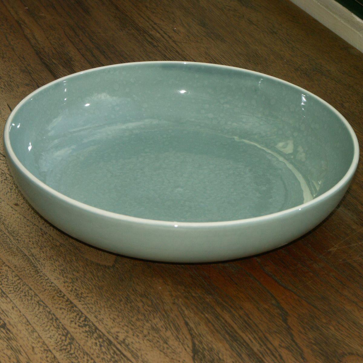 Sixties  -  Saladier    Celadon    en  céramique