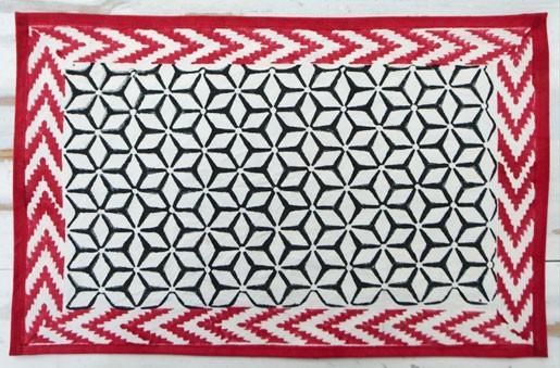Red & Black -Serviette papier 20cm noire et rouge  (par20)