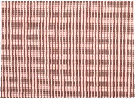 Zip- Set de Table Textilène Rayé Rouge/Blanc 46x33 cm (par4)