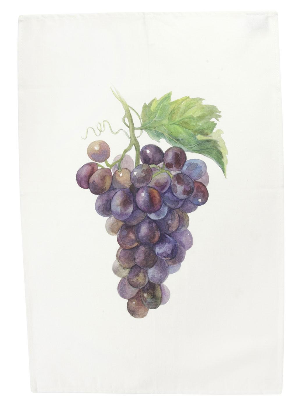 Saveurs -  Torchon Legume du jardin raisin 70x50cm
