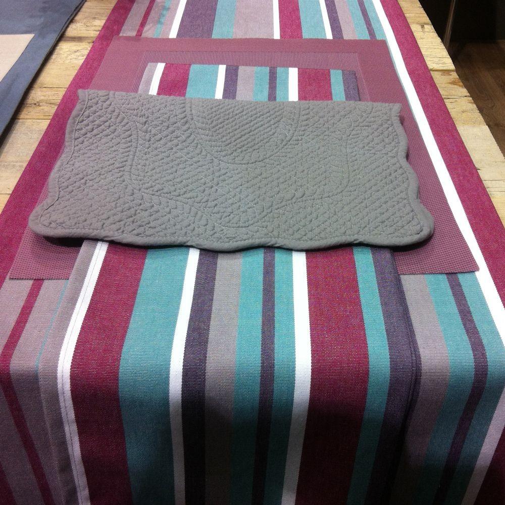 Ustaritz - nappe 178x250 100%coton traitement anti taches