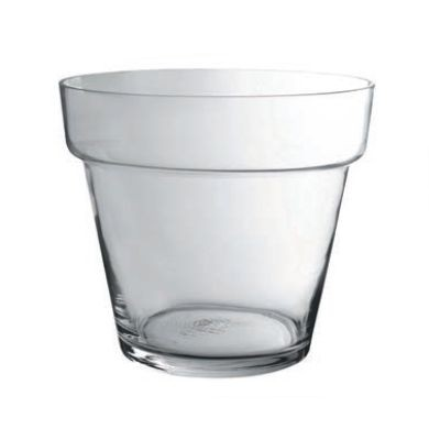 Vase - Vase conique sur pied  en verre transparent petit modele