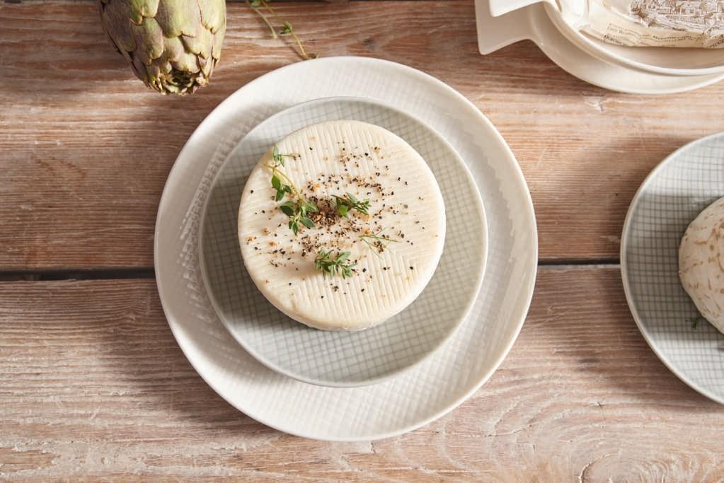 Voyage - Assiette creuse vanille porcelaine (par2)