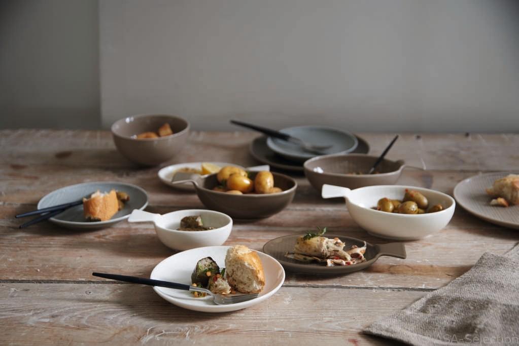 Voyage - Assiette plate muscat porcelaine (par2)