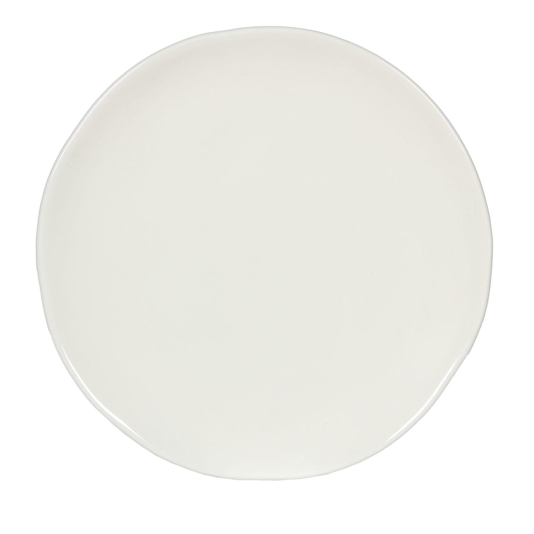 craft assiette plate 28cm faience blanche (par6)