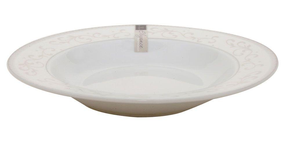 Elegance – Assiette creuse en porcelaine decorée  ( par 6)