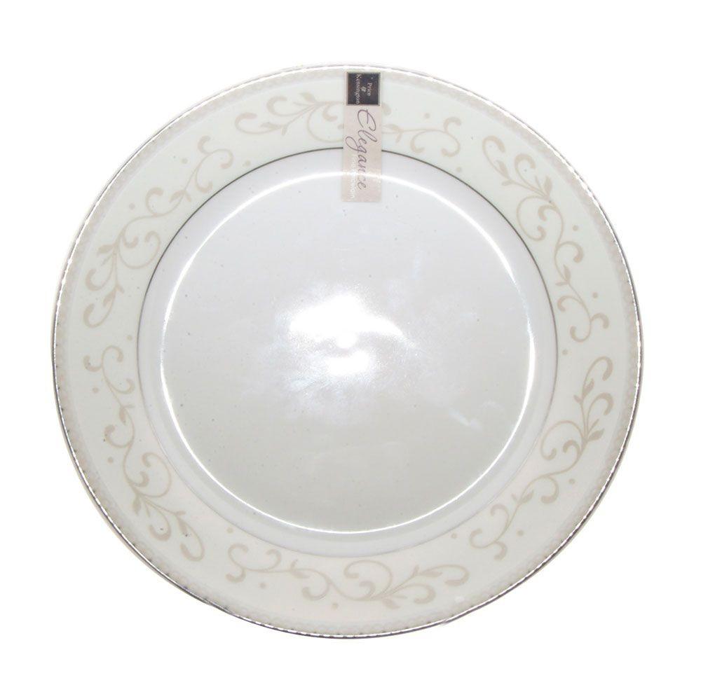 Elegance - Assiette à dessert  porcelaine decorée (par 6)