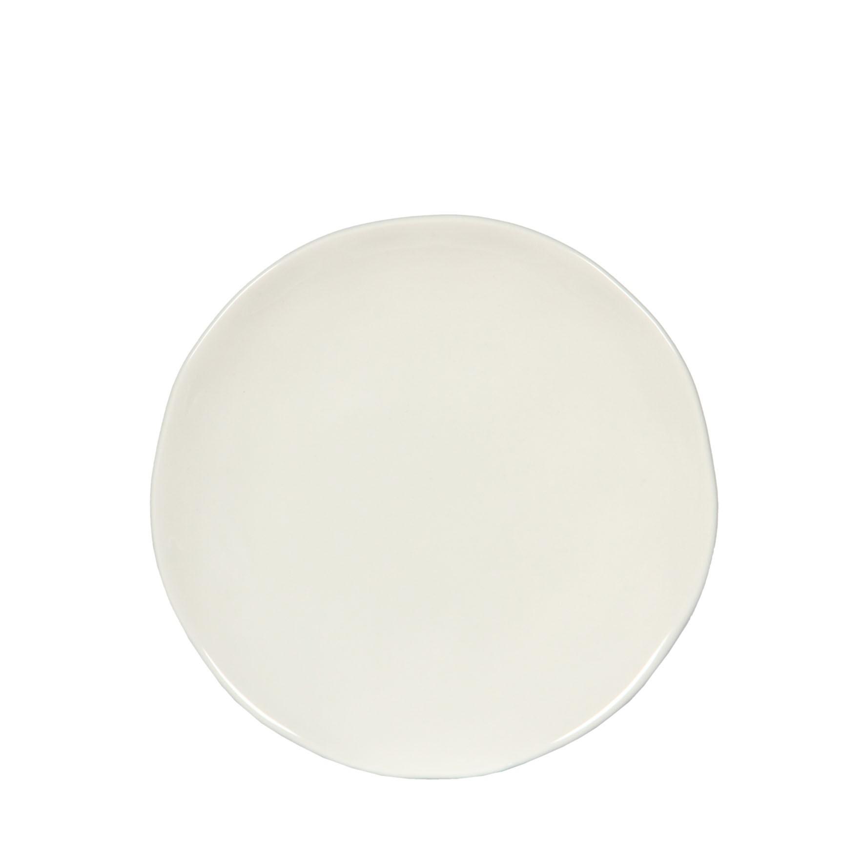 craft assiette dessert 21cm faience blanche (par6)