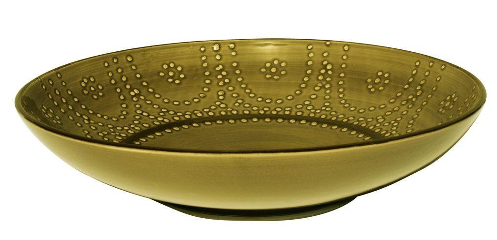 Carlotta  -  Plat  rond  olive  clair  32 cm