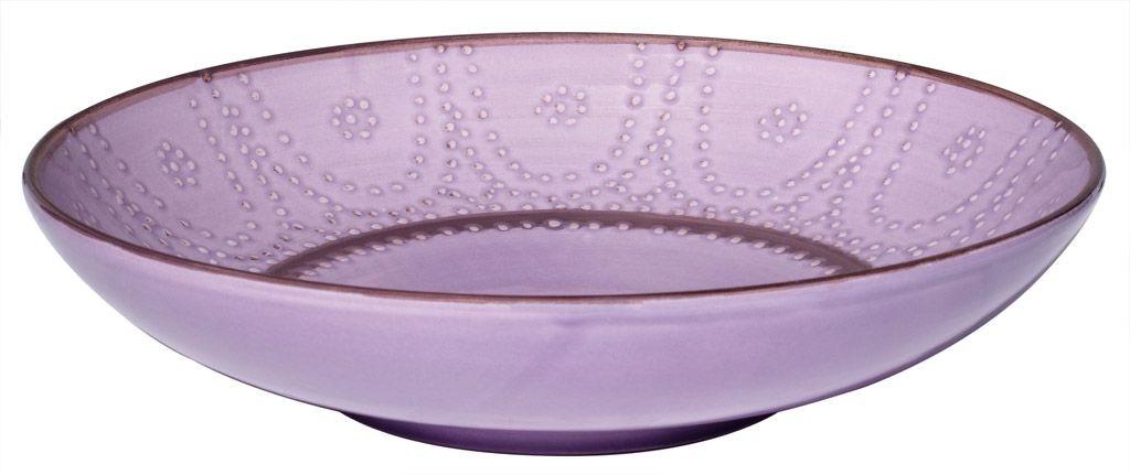 Carlotta  -  Plat  rond  lilas  32  cm