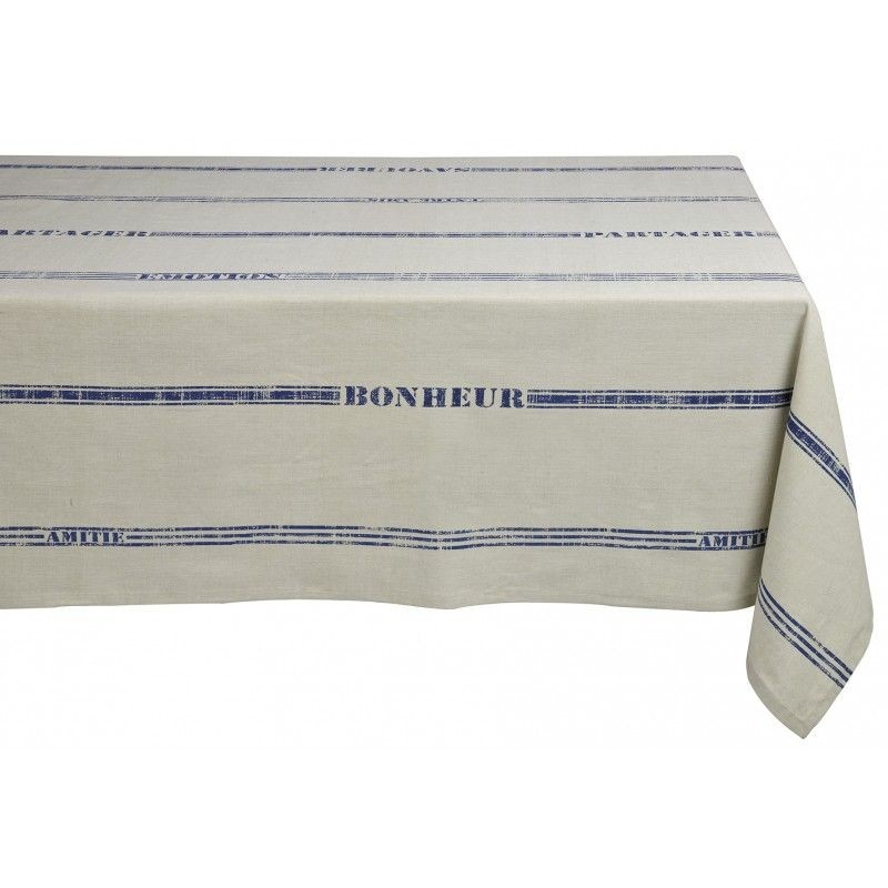 Maison d'Hôtes - Nappe Rectangle en coton imprimé 150x250cm