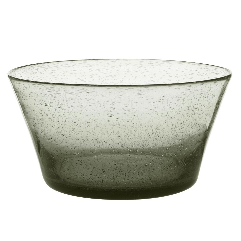 Artisan - Saladier verre bullé gris