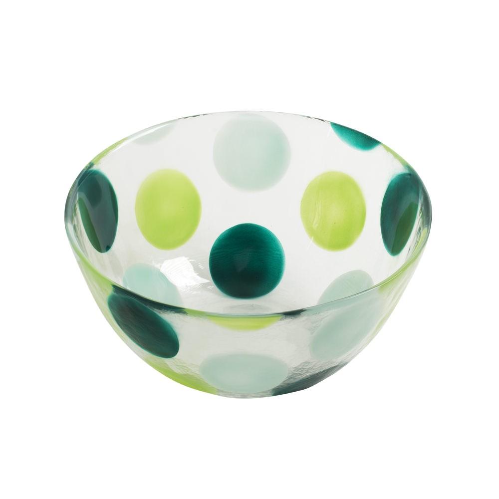 pois saladier pois vert verre epais 21cm table passion marques. Black Bedroom Furniture Sets. Home Design Ideas
