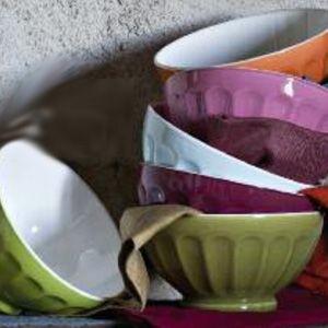 Classique - Bol  bi-colors cotes plates assortis (par6)