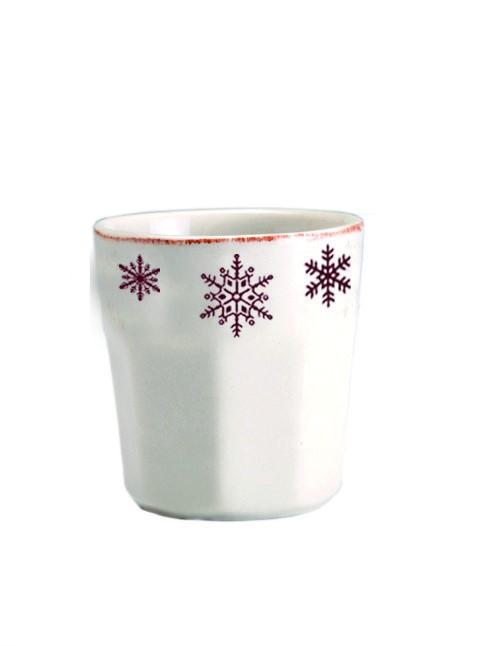 Chamonix - tasse a espresso en faience motif flocon (par6)
