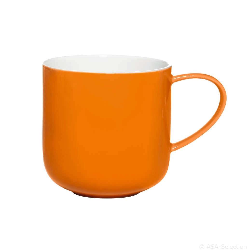 Coppa  -  Mug  bicolore  orange en  porcelaine