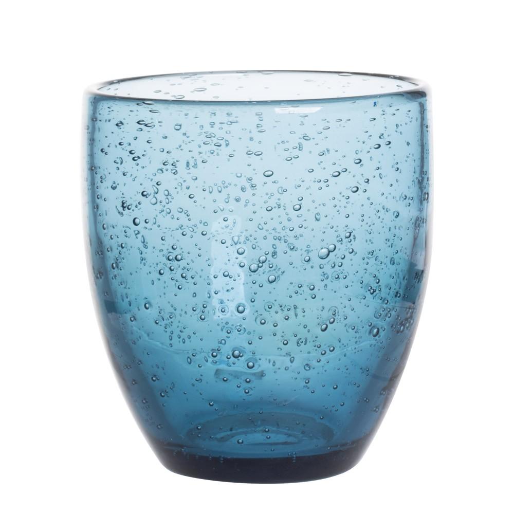 Artisan - Gobelet verre bullé bleu 28cl (par 6)