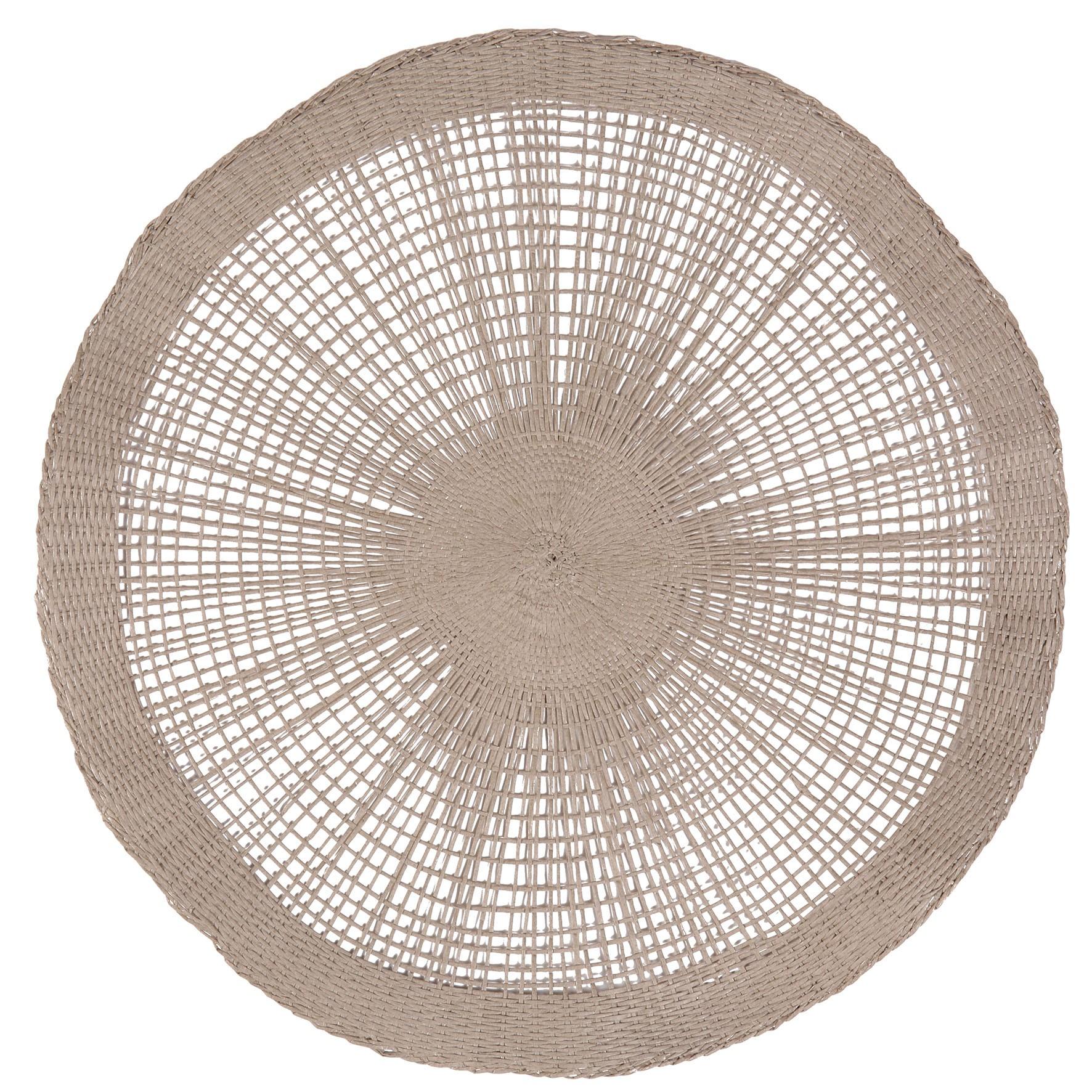 soleil - set de table 38cm taupe (par2)