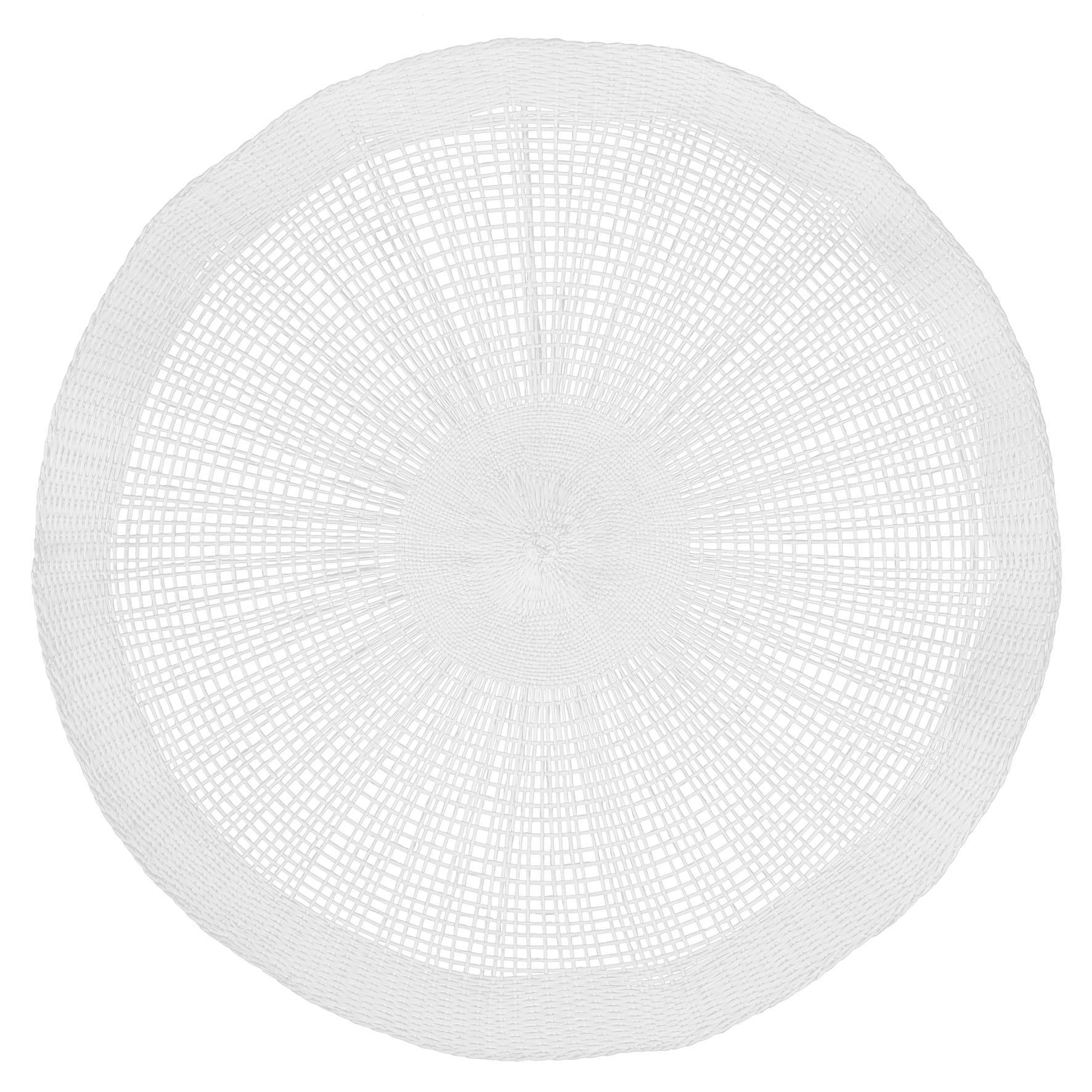 soleil - set de table 38cm blanc (par2)