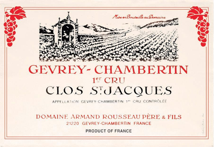Bourgogne - Torchon gevrey-chambertin clos saint jacques 1er cru