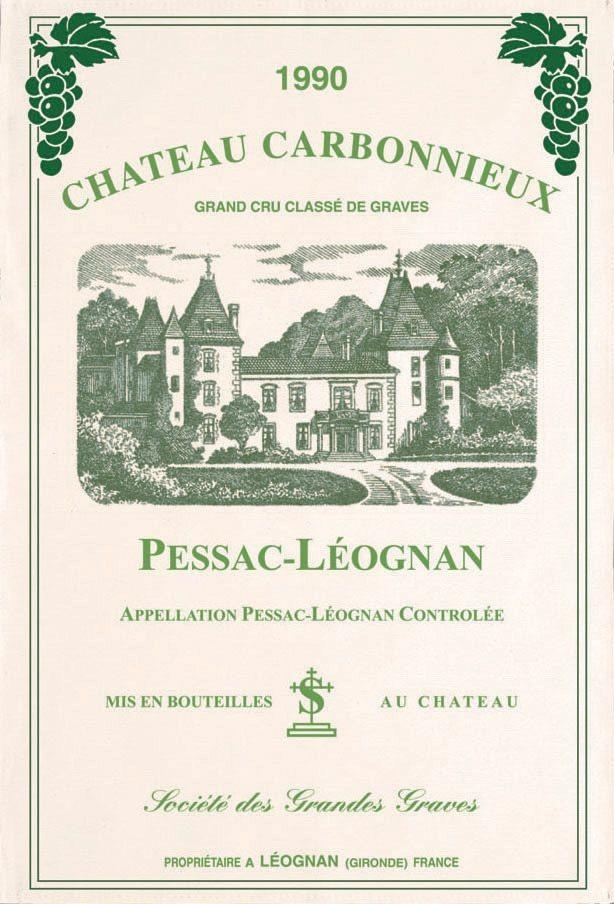 Bordeaux - Torchon château carbonnieux pessac leognan 1990