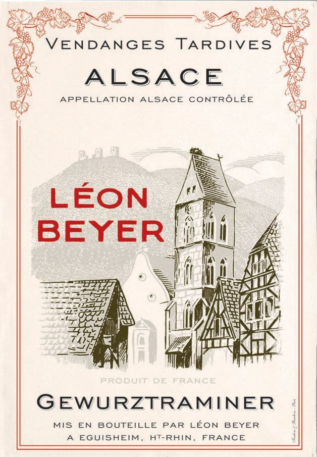 Alsace - Torchon léon beyer vendanges tardives gewurtraminer