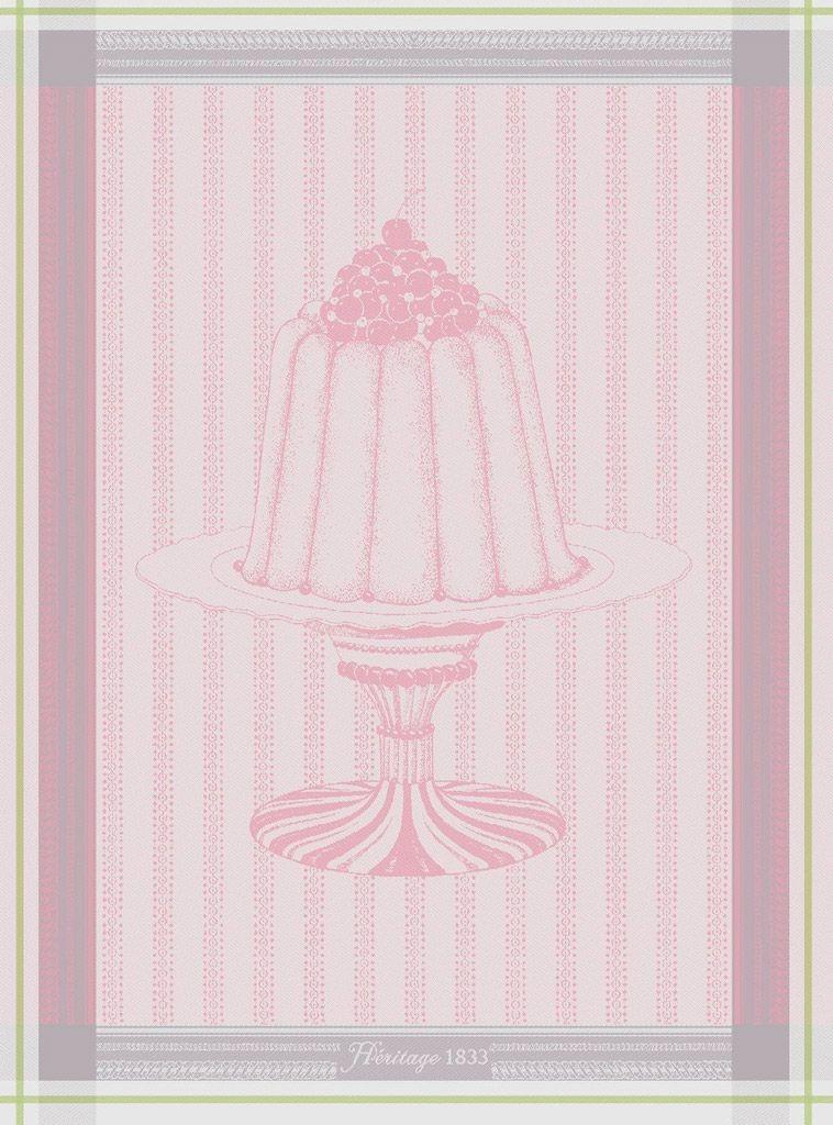 Gateaux - Torchon charlotte à la rose