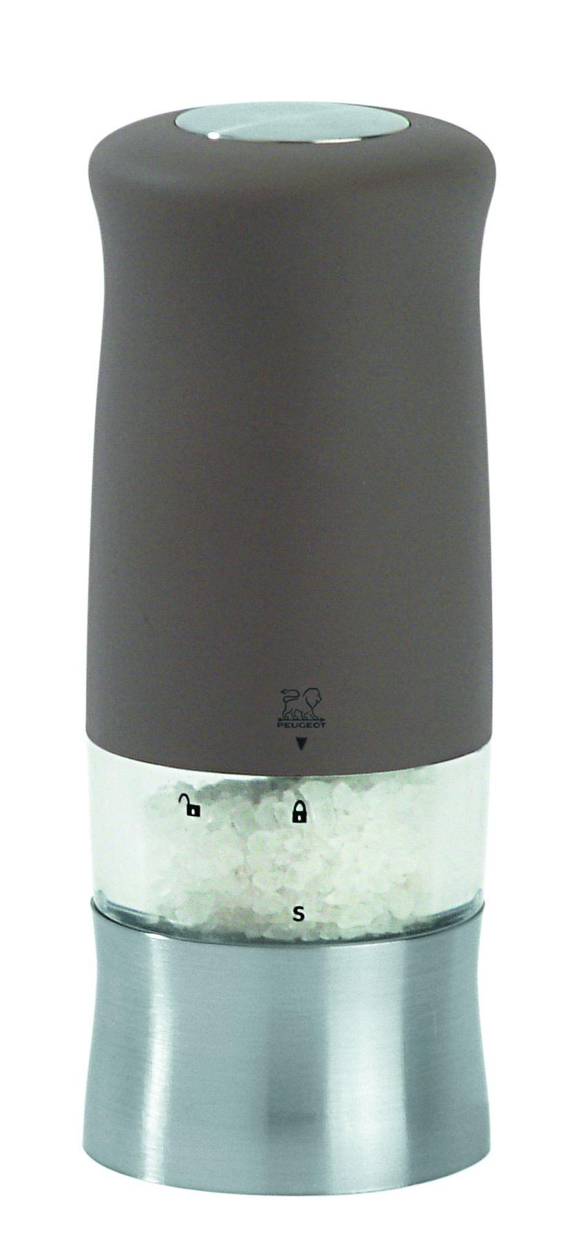 Zephir- Moulin à Sel electrique soft touch noir mat 14cm