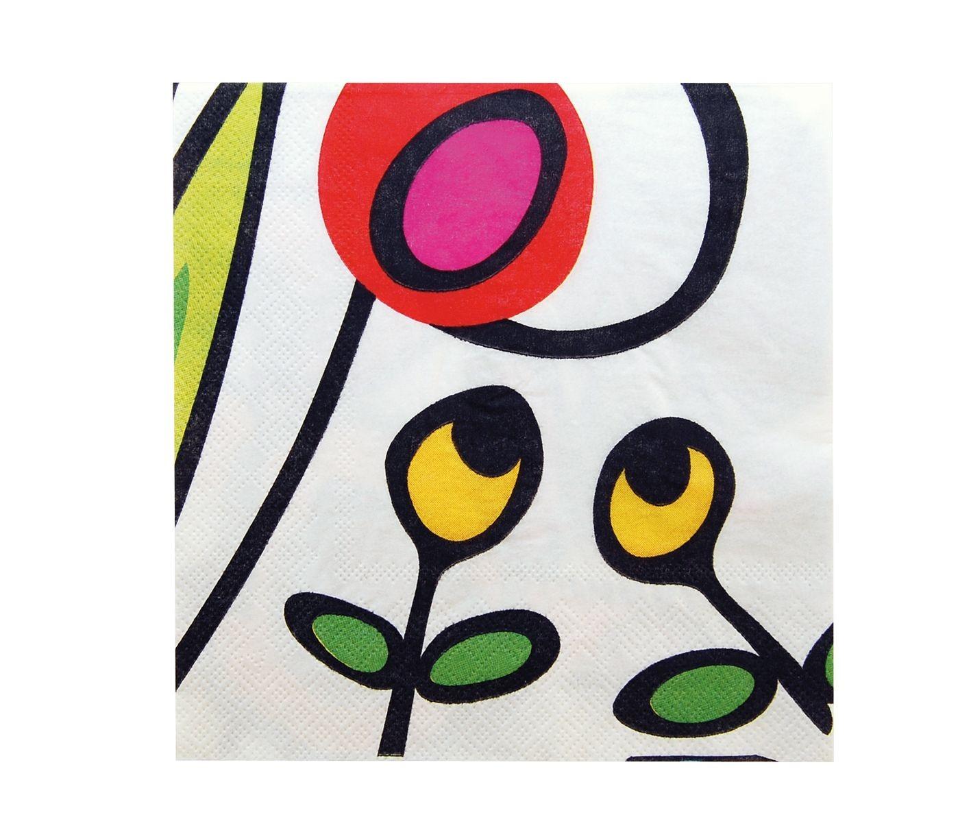 Wild Flora - Set de 20 serviettes en papier Décoré