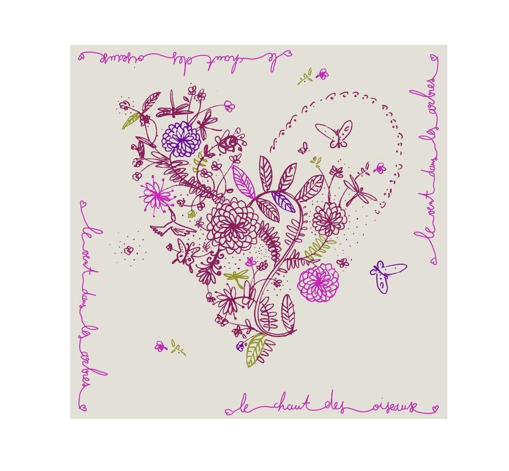 Maria - Serviettes papier multicolors (paquet de 20)
