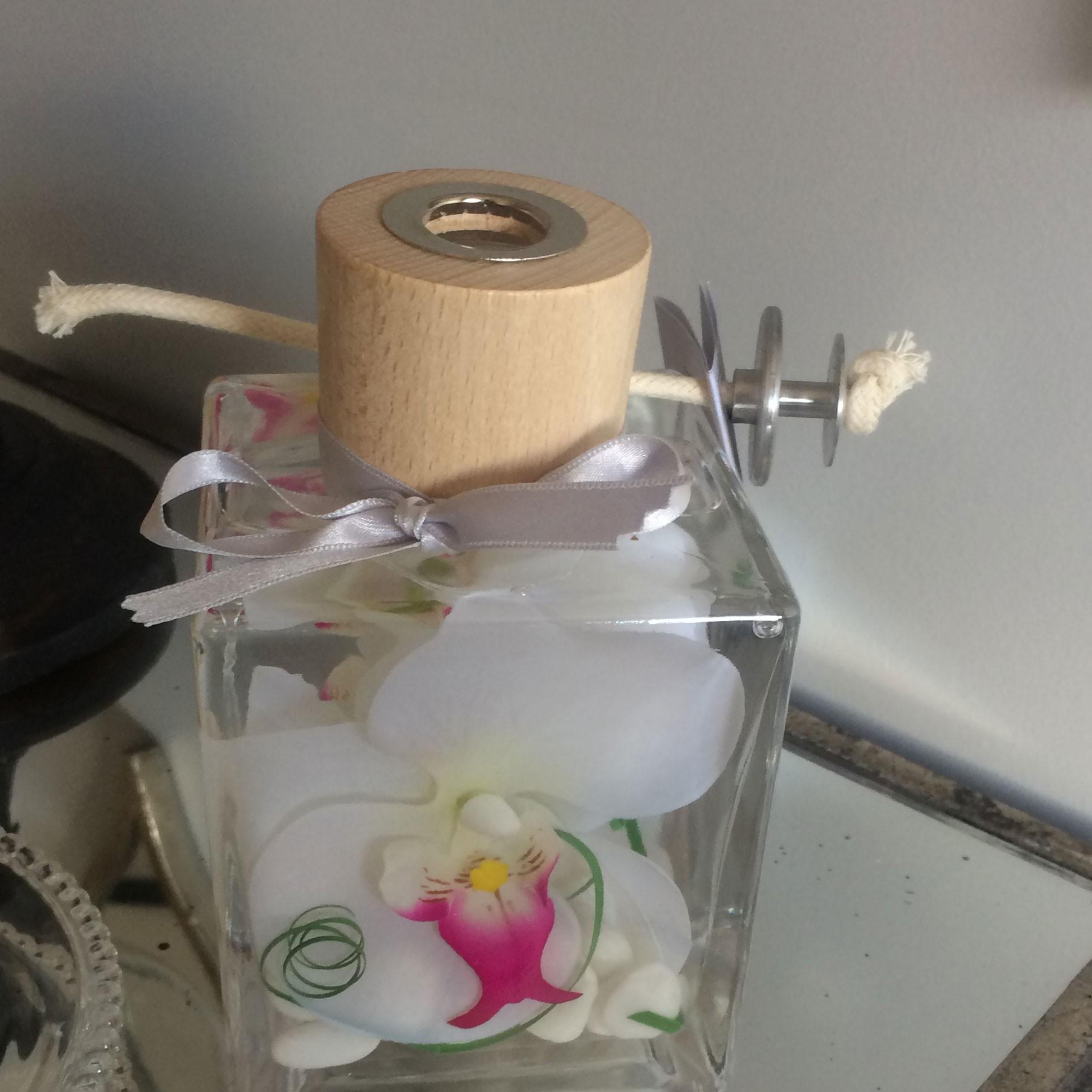 Mystic - Lampe à huile mystic  carré orchidée rouge 500ml