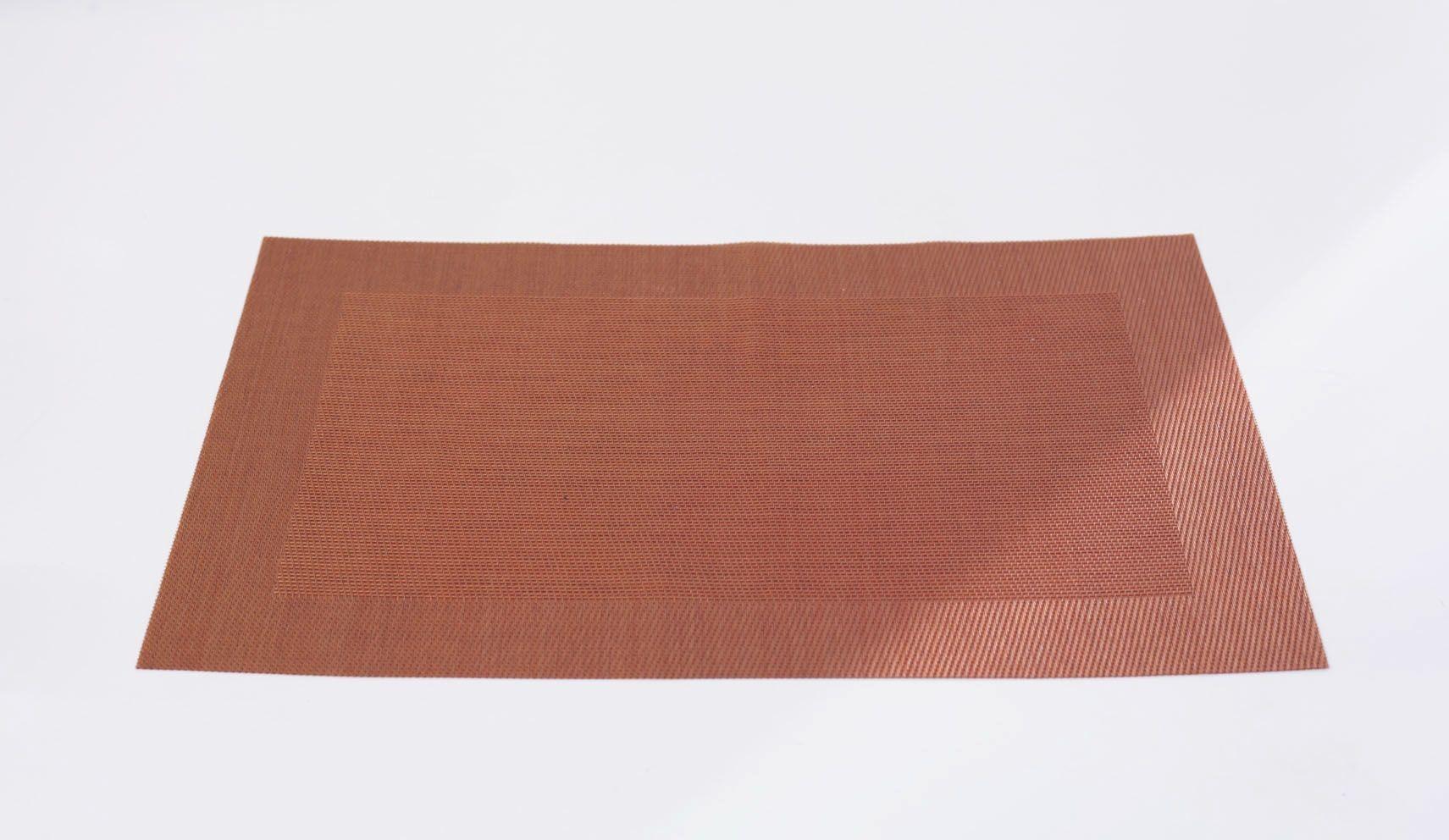 Cuivre - Set de table cuivre en pvc (par6)