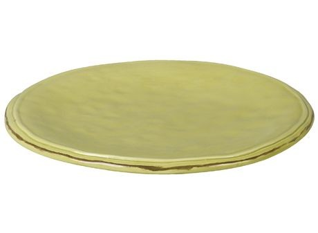 Cotta -Assiette à dessert vert anis en faience (par4)