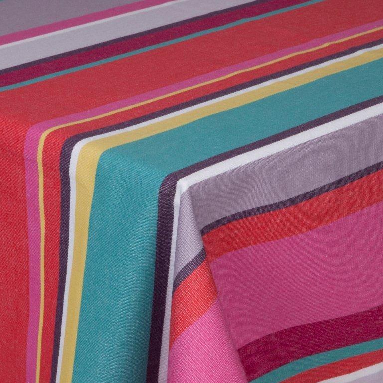 Bayonne - nappe 178x178 100%coton traitement anti taches